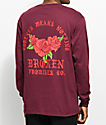 Broken Promises Forever Means Nothing Burgundy Long Sleeve T-Shirt