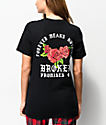 Broken Promises Forever Means Nothing Roses Black T-Shirt