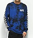 Broken Promises Midnight camiseta azul de manga larga con efecto tie dye