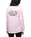 Broken Promises Shatter camiseta rosa de manga larga