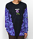 Broken Promises Thornless Black Tie Dye Long Sleeve T-Shirt