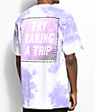 Broken Promises Trip Cloud White & Purple Tie Dye T-Shirt