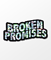 Broken Promises Wave Logo Sticker