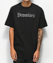 Broken Promises camiseta negra con gemas