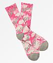 Brooklyn Projects F**k Off Pink Crystal Crew Socks