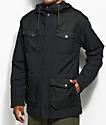 Burton Match chaqueta negra aislada
