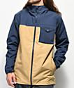 Burton Portal chaqueta de snowboard azul y caqui