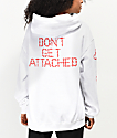 By Samii Ryan Don't Get Attached White Hoodie