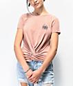 By Samii Ryan Kanji Blossom Pink Tie Front T-Shirt