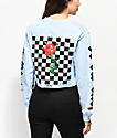By Samii Ryan Let Me Go Baby Blue Long Sleeve Crop T-Shirt