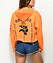 By Samii Ryan Lust Orange Crop Hoodie