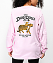 By Samii Ryan Too Dangerous Pink Long Sleeve T-Shirt