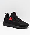 CU4TRO Striker Ben Baller Black Knit Shoes