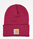 Carhartt Watch Raspberry gorro rojo