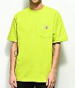 Carhartt Workwear Sour Apple camiseta con bolsillo