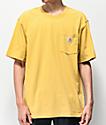 Carhartt Workwear Yellow Pocket T-Shirt
