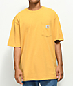 Carhartt Workwear camiseta dorada con bolsillo