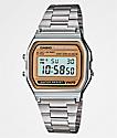 Casio A158 Vintage Silver Digital Watch