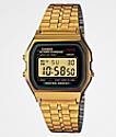 Casio A159WGEA-1VT Vintage reloj en negro y color oro