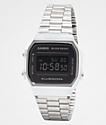 Casio A168WEM-1VT Vintage reloj digital en negro y plata