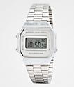 Casio A168WEM-7VT Vintage All Silver Digital Watch