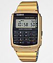 Casio Vintage Calculator reloj en color oro