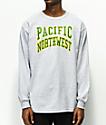 Casual Industrees PNW Collegiate camiseta gris de manga larga