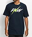 Casual Industrees PNW Lightning Bolt camiseta en azul marino