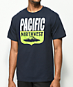 Casual Industrees PNW Shield camiseta en azul marino