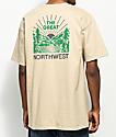 Casual Industrees PNW Squatch Valley 2 camiseta beige