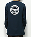 Casual Industrees PNW camiseta de manga larga azul marino