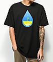 Casual Industrees Raindrop camiseta negra