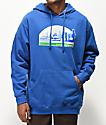 Casual Industrees Sodo Skyline sudadera con capucha azul