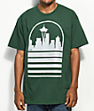 Casual Industrees Speckle SEA Skyline Green T-Shirt