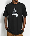 Casual Industrees WA Johnny Tree Above The Clouds camiseta negra