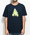 Casual Industrees WA Johnny Tree camiseta en azul marino