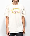 Casual Industrees x Rainier Washington Fresh camiseta blanquecina