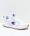 Champion 93 Eighteen Big C zapatos de cuero blanco