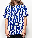 Champion Allover Print Block Text Grey T-Shirt