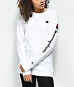 Champion Big C Script White Long Sleeve T-Shirt