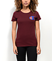 Champion Big Patriotic C Burgundy T-Shirt