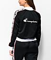 Champion Black & Red Taping Track Jacket