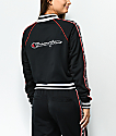 Champion Black & Red Taping Track Jacket