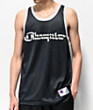 Champion Black & Silver Mesh Basketball Jersey
