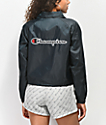 Champion Black Crop Coaches Jacket