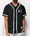 Champion Black Mesh Baseball Jersey