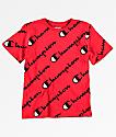Champion Boys Allover Script Red T-Shirt