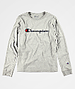 Champion Boys Heritage Grey Long Sleeve T-Shirt