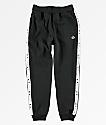 Champion Boys Heritage Logo Tape Black Jogger Pants