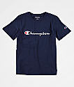 Champion Boys Heritage Navy T-Shirt